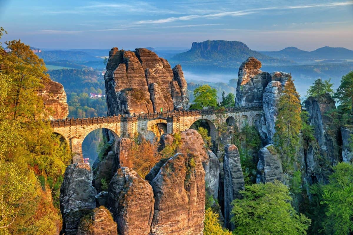 nature, landscape, sky, bridge, stone, structure, canyon