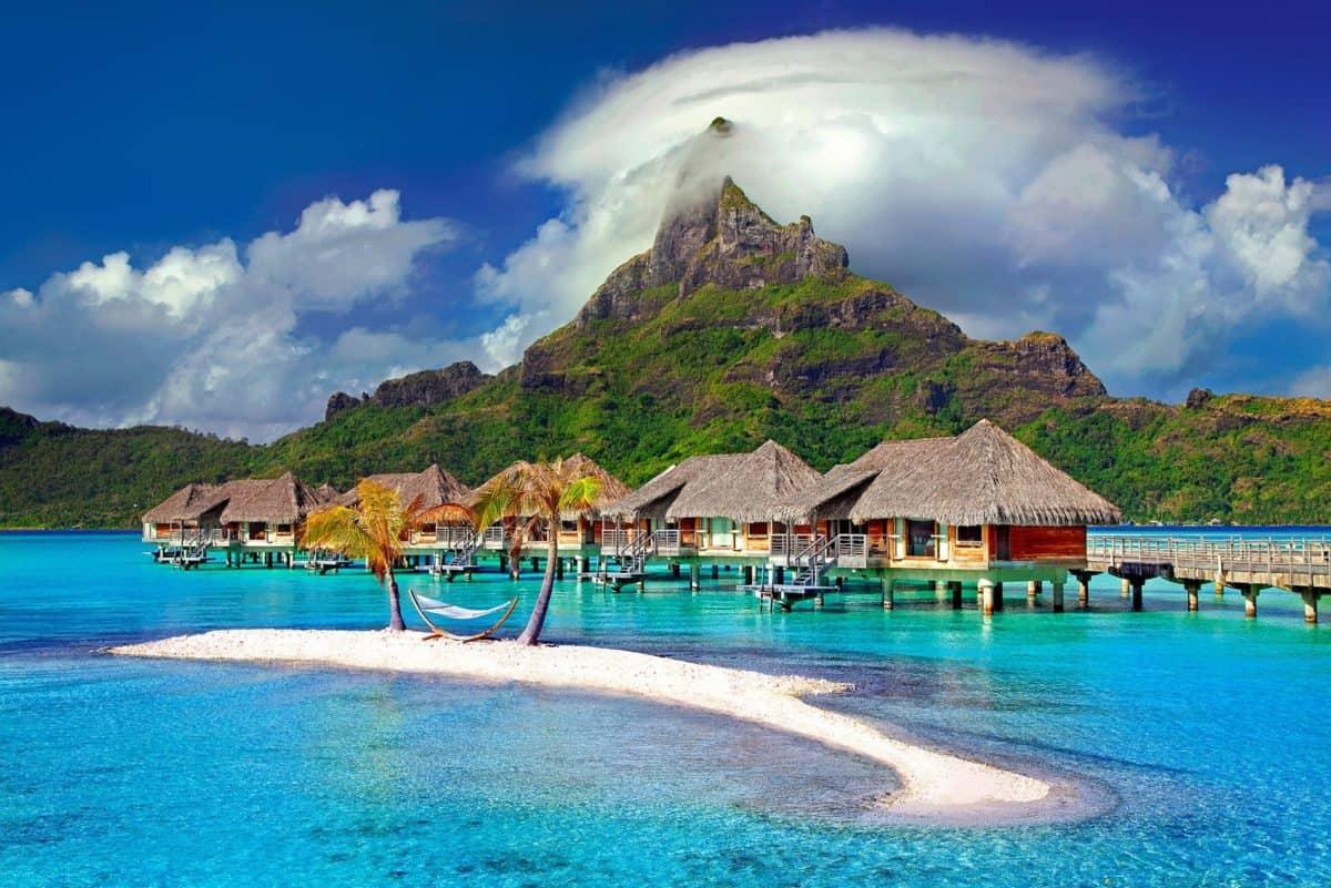 екзотични, остров, вода, рай, морския бряг, лято, океан, бряг, остров