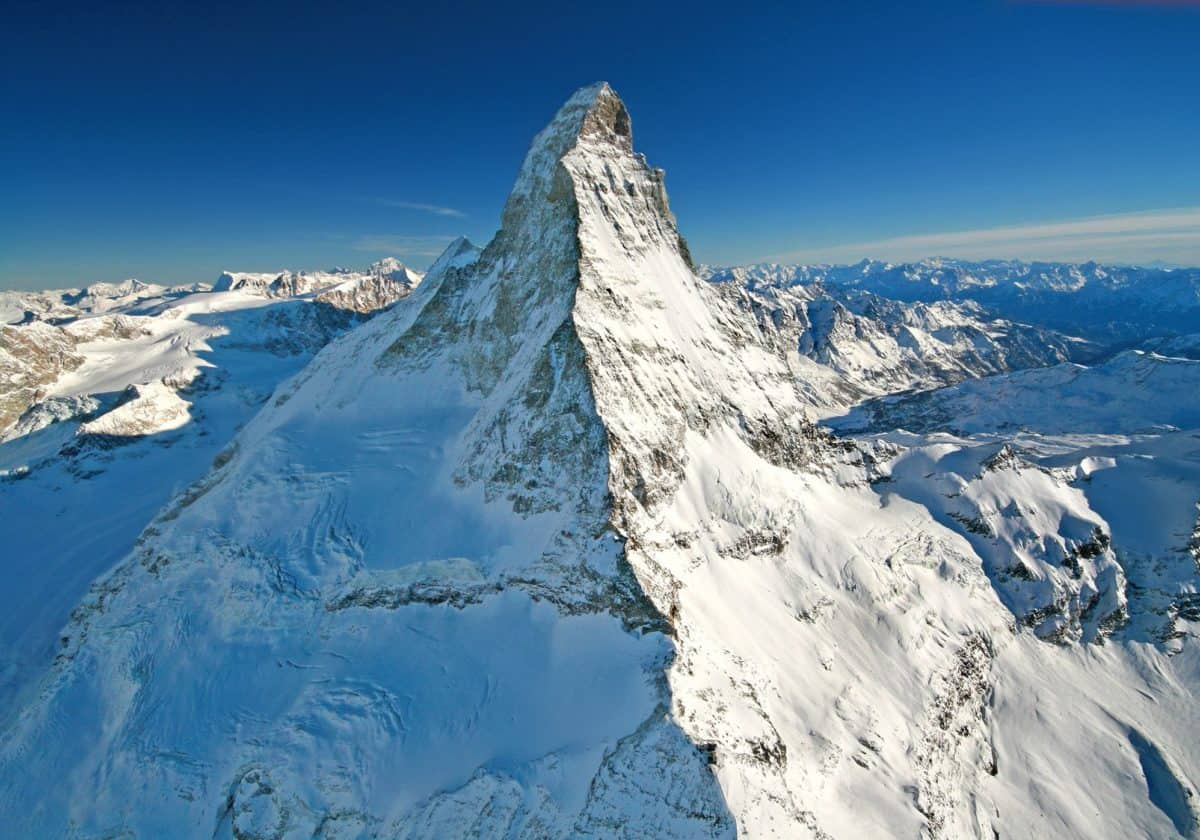 froid, montagne, hiver, ciel bleu, glace, high, neige, paysage, glacier