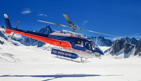 ice, helicopter, aircraft, vehicle, cold, snow, winter, mountain, blue sky, outdoor
