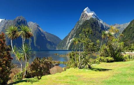 montaña, paisaje, cielo, naturaleza, agua, verano, bosque, Valle