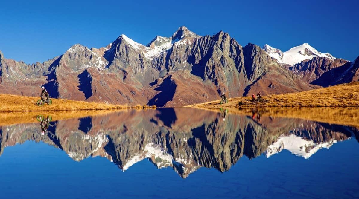 snow, mountain, glacier, landscape, sky, lake, outdoor, nature