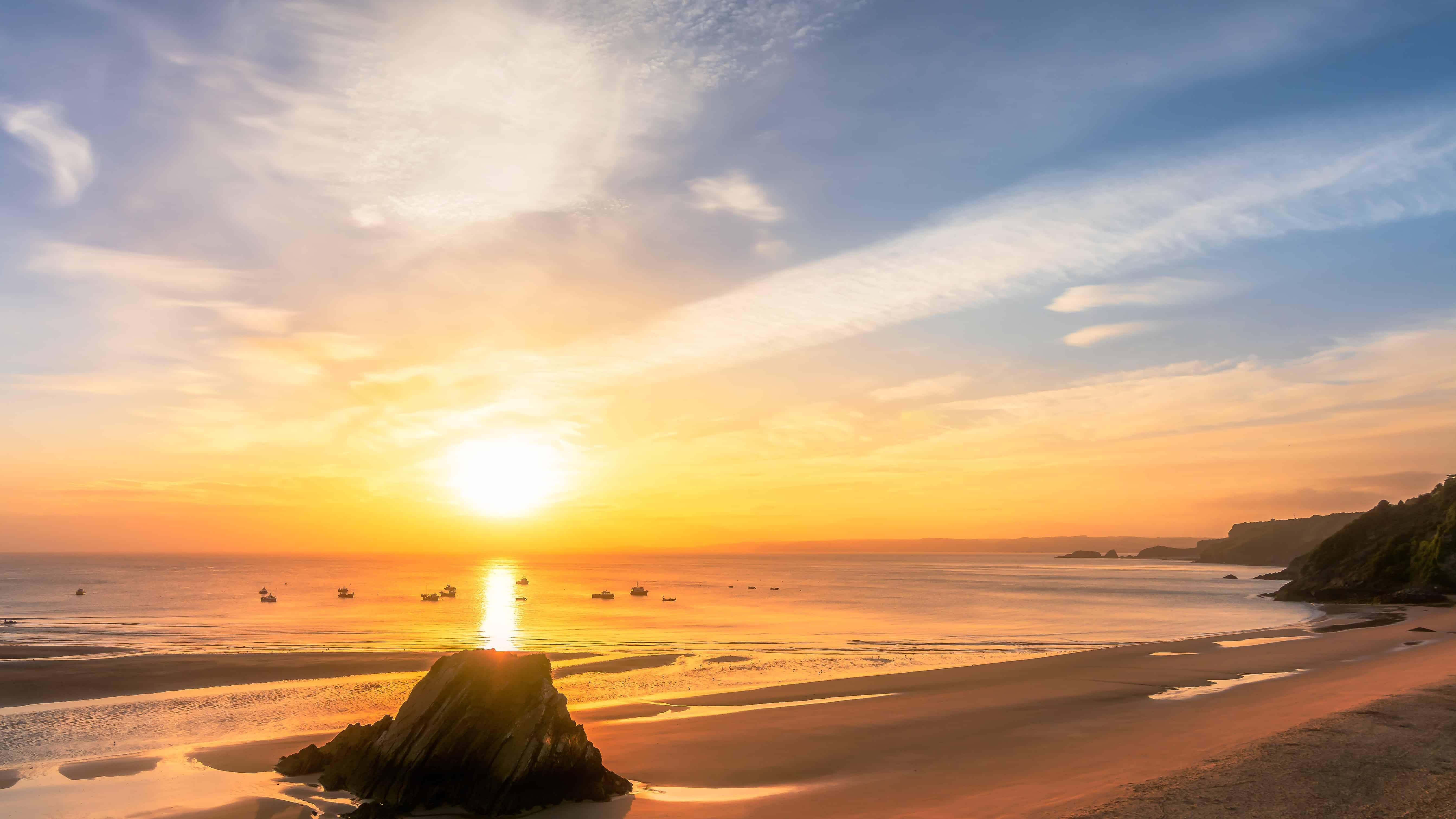 Sea Sun Water Dusk Beach Sunset Ocean Sand Sunrise