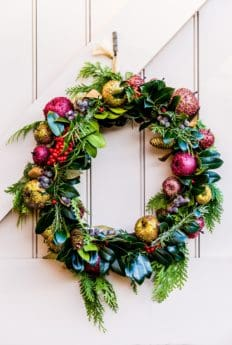 arrangement, decoration, Christmas, wreath, door