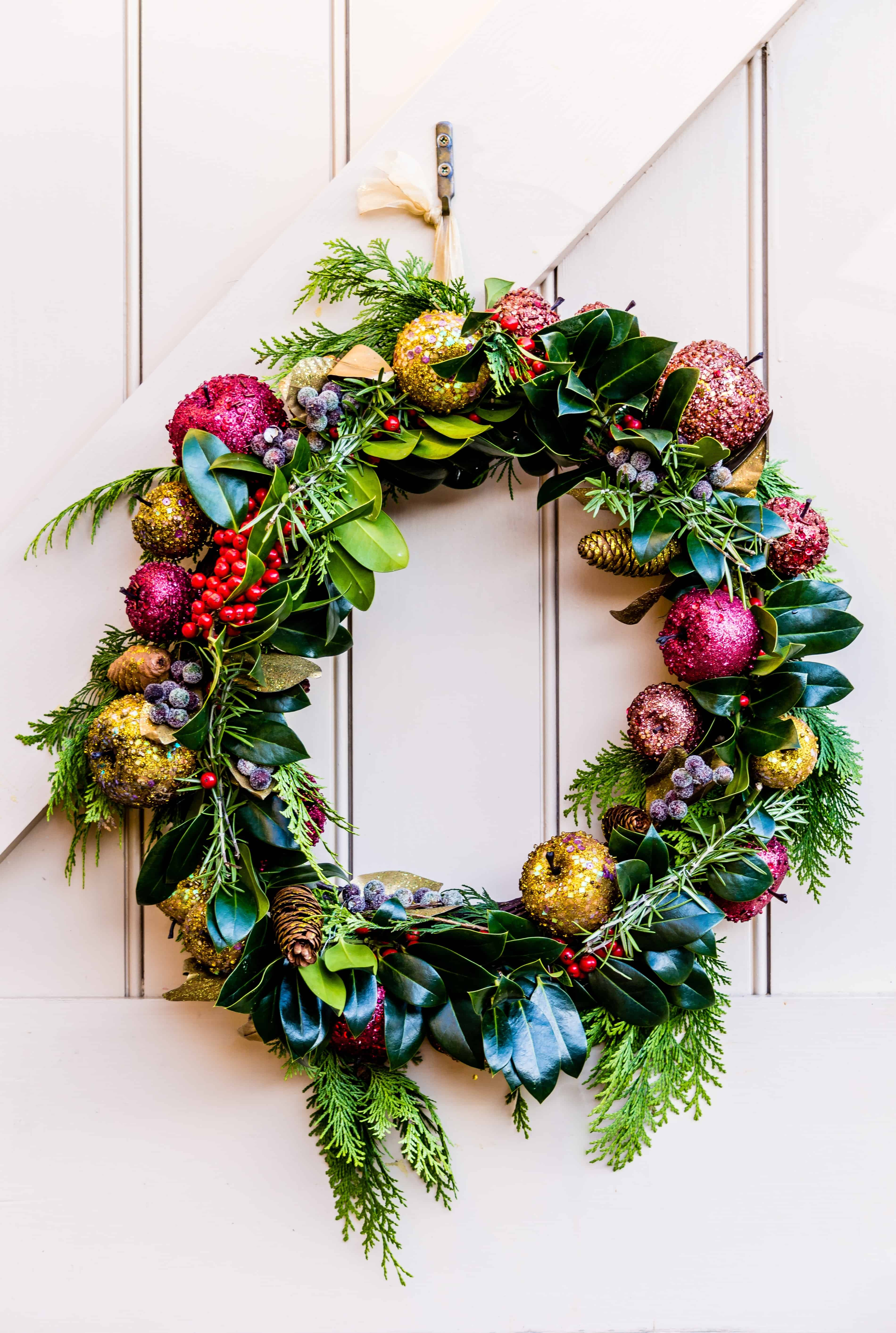 Free picture arrangement decoration Christmas wreath door