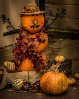 pumpkin, vegetable, decoration, autumn, leaf