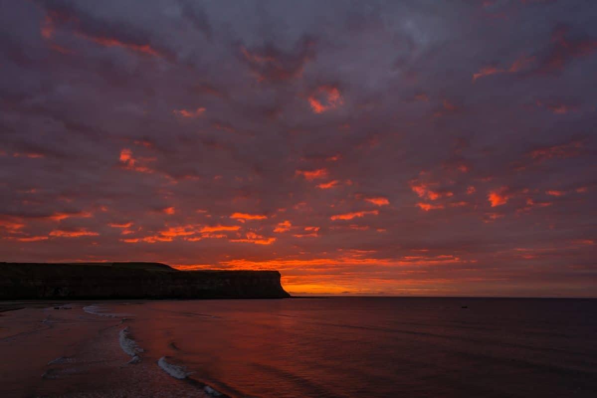 plage, eau, crépuscule, soleil, ciel, mer, atmosphère, coucher de soleil