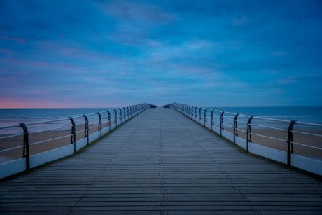 sea, landscape, sky, seascape, beach, pier, water, sunset