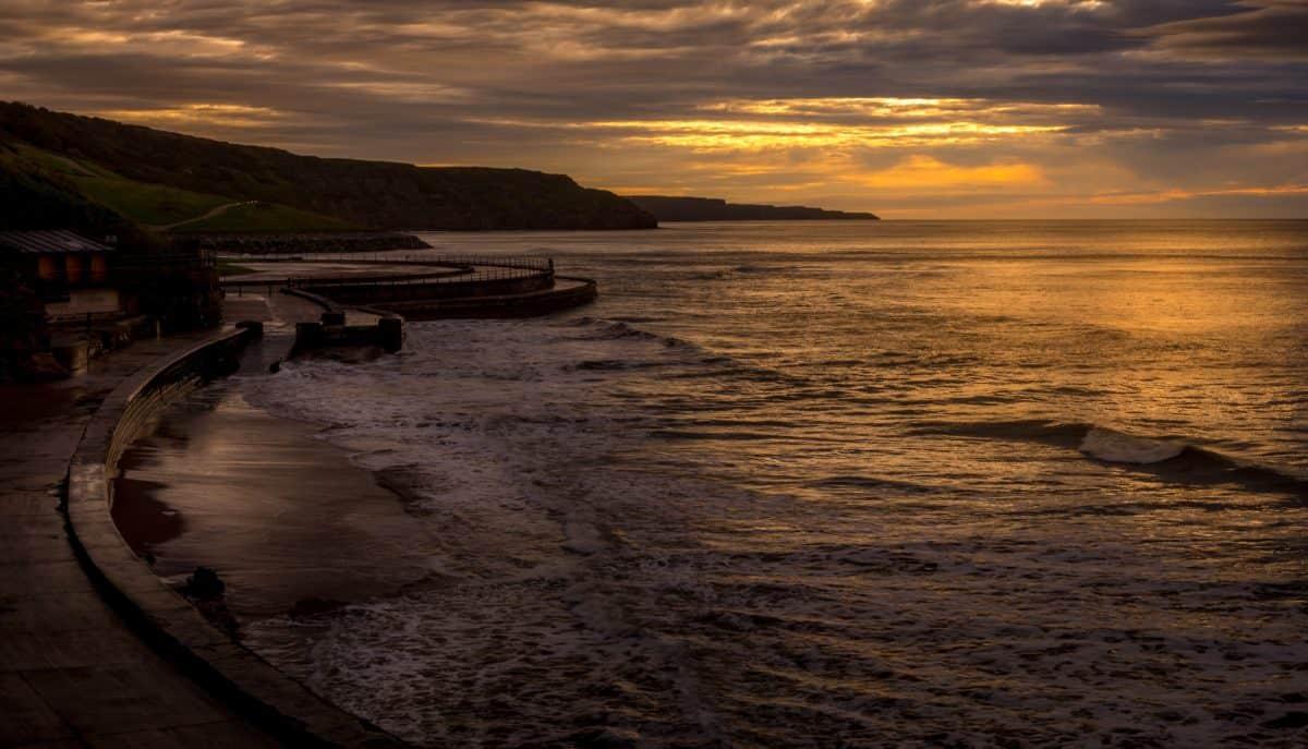seashore, dawn, water, beach, sea, sunset