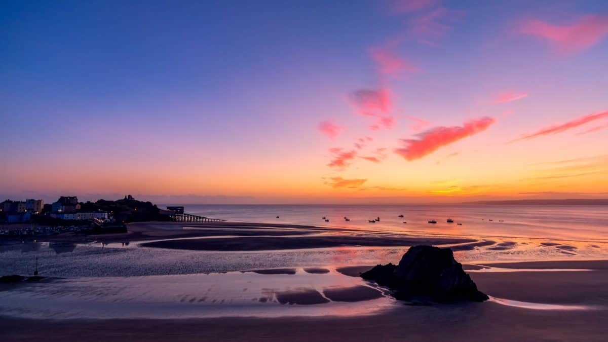 beach, sea, sunset, water, dawn, sun, sand, sky