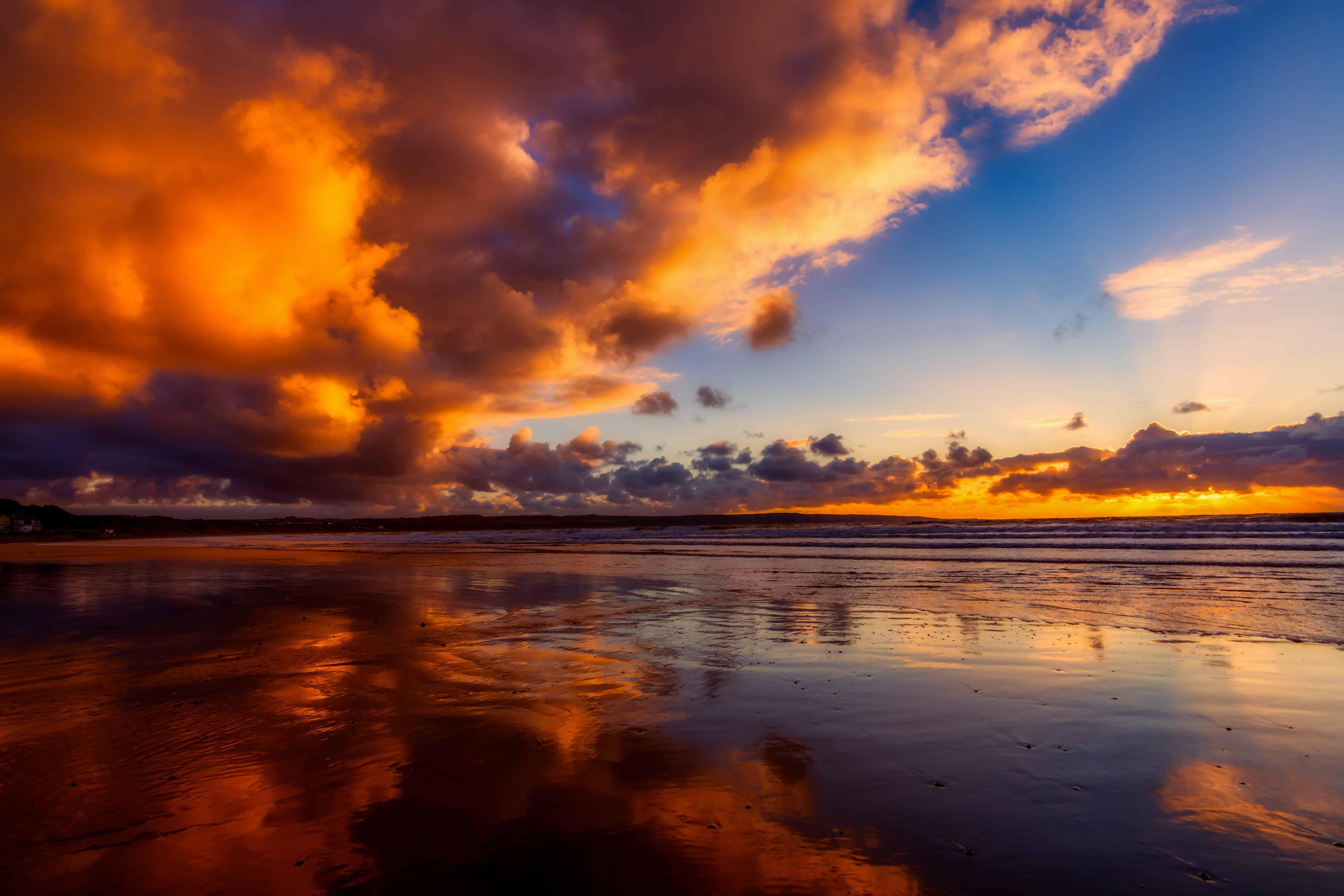 Free Picture Water Nature Ocean Sunset Beach Sun Dusk