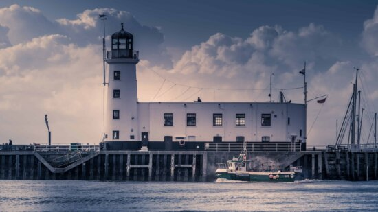 water, lighthouse, sea, beacon, tower, structure, architecture