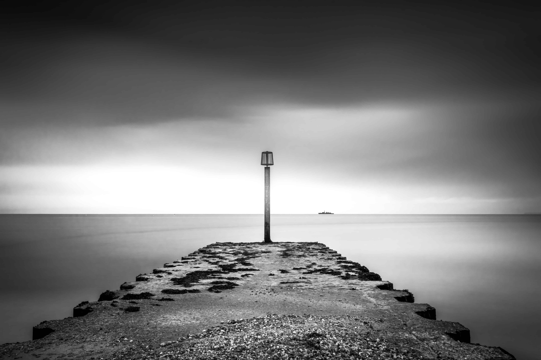 Foto Gratis Spiaggia Tramonto Bianco E Nero Oceano Mare Acqua