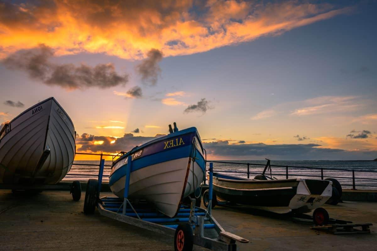 solen, båt, solnedgang, skumring, vann, strand, havet, havet, himmelen, landskap