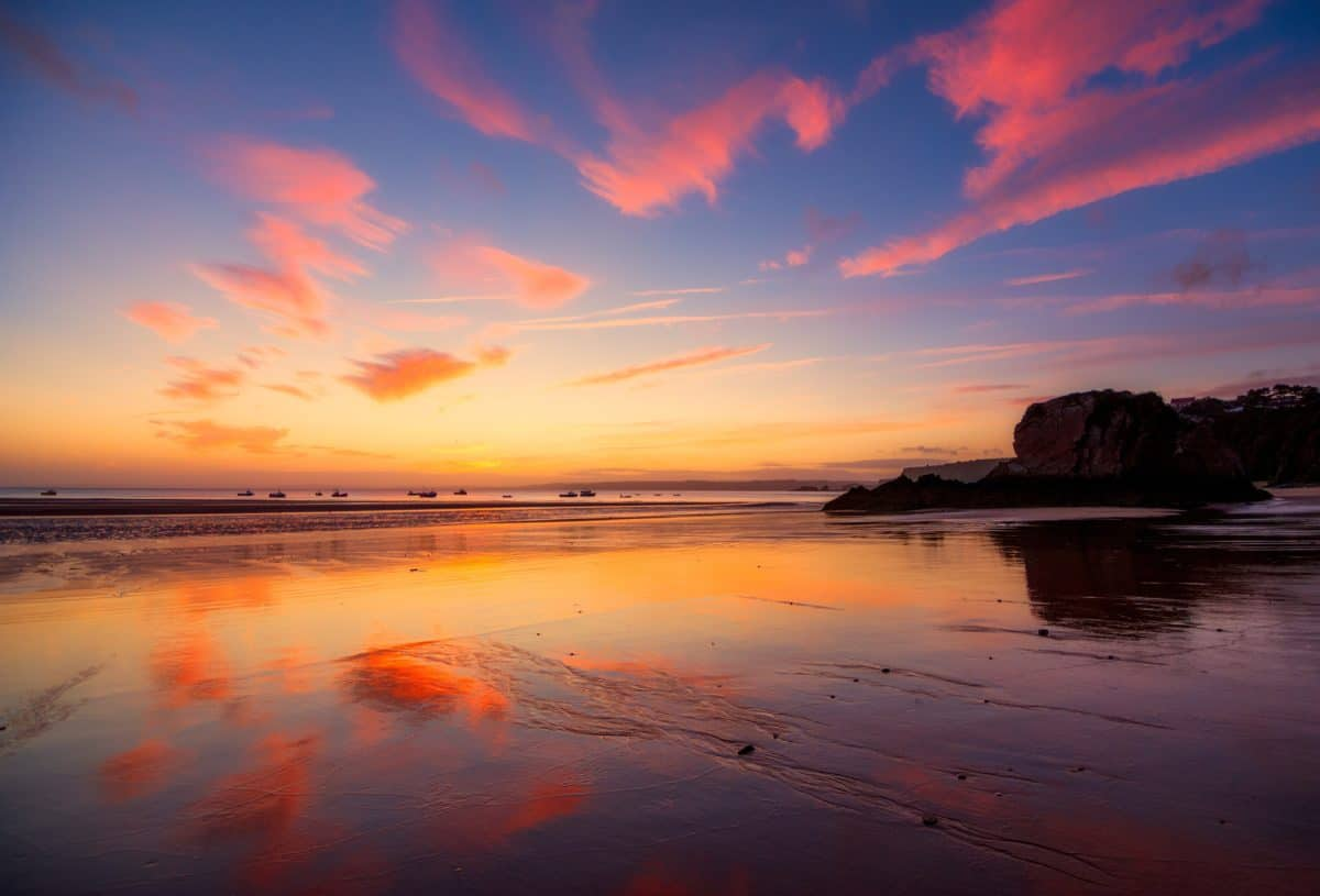 sole, alba, tramonto, acqua, mare, orizzonte, paesaggio, mare, cielo