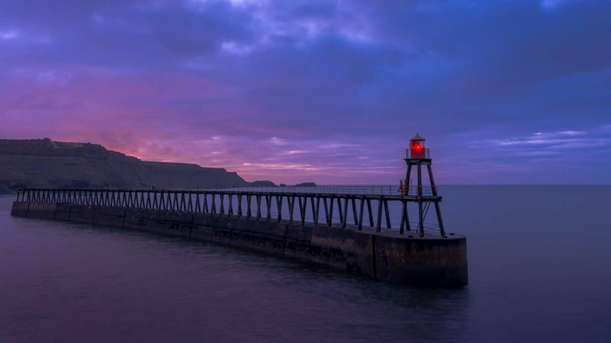 Sunset, pier, vand, hav, bridge, sky, udendørs