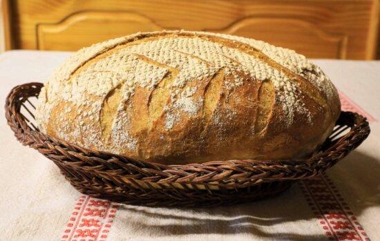 Korb, Brot, Frühstück, Roggen, Lebensmittel, Getreide, Mehl, braun, Tisch