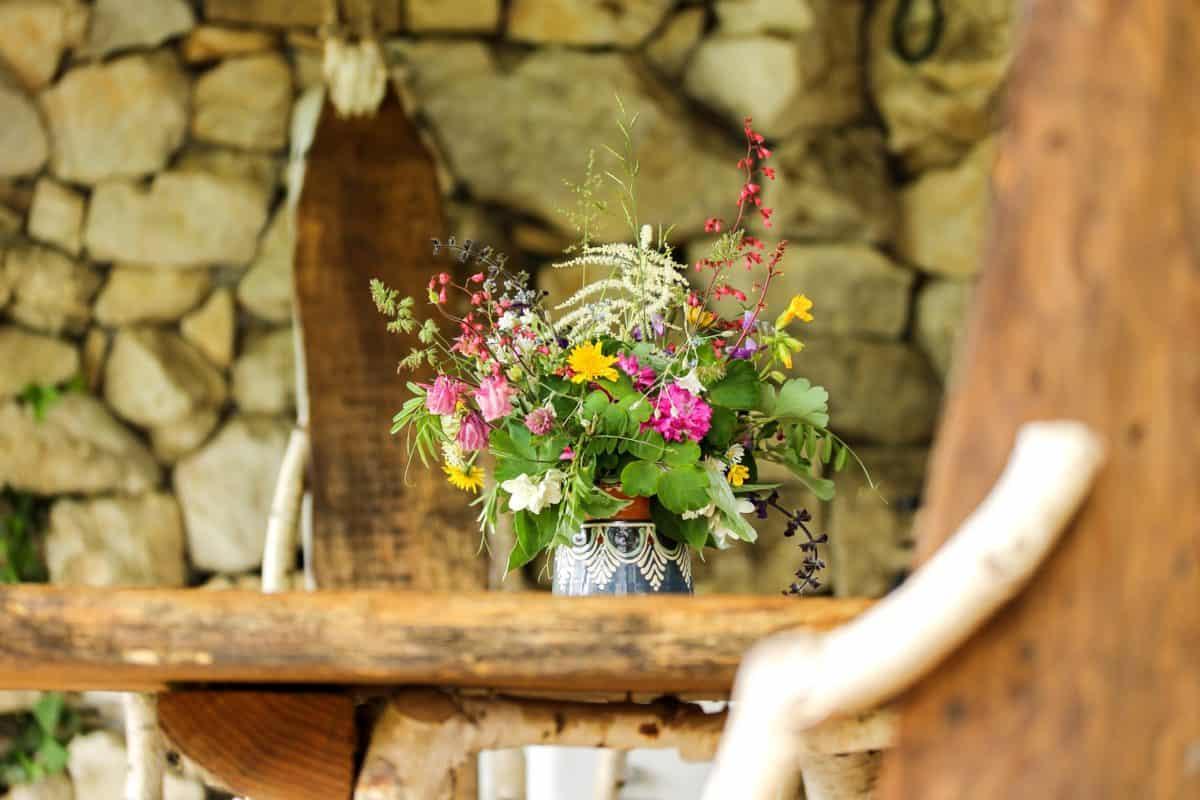 Blume, Strauß, Stilleben, Natur, rustikal, Blumentopf