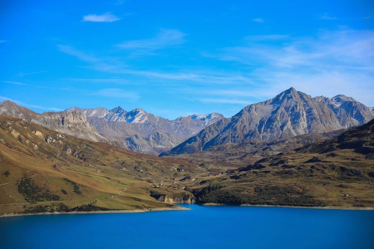 Lago, neve, paesaggio, lago, montagna, cielo, acqua, ghiacciaio, natura