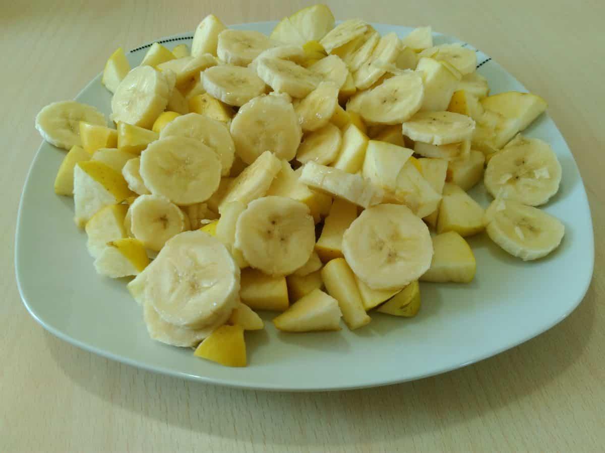 food, meal, dish, vegetable, dinner, banana, table