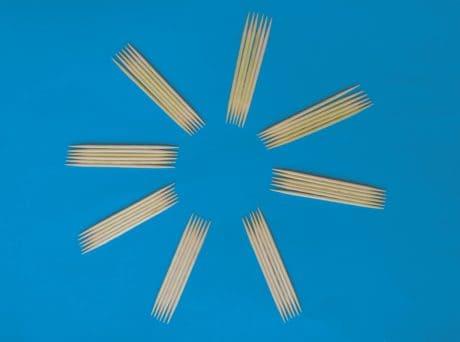 objet, bâton à la main, décoration, bleu