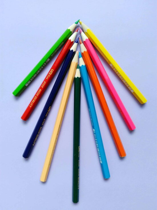 equipment, pencil, education, wood, colorful, draw, object