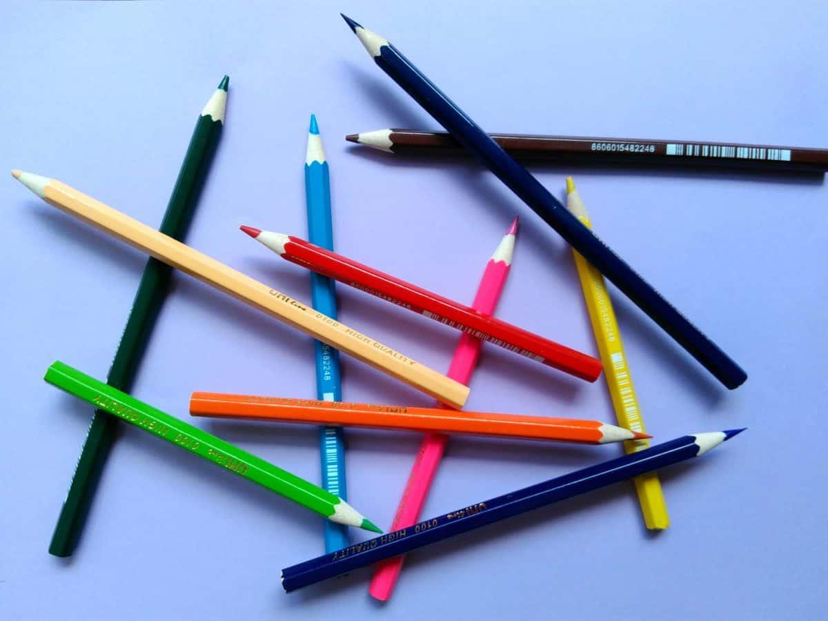 творчество, дърво, хартия, молив, образование, цветна