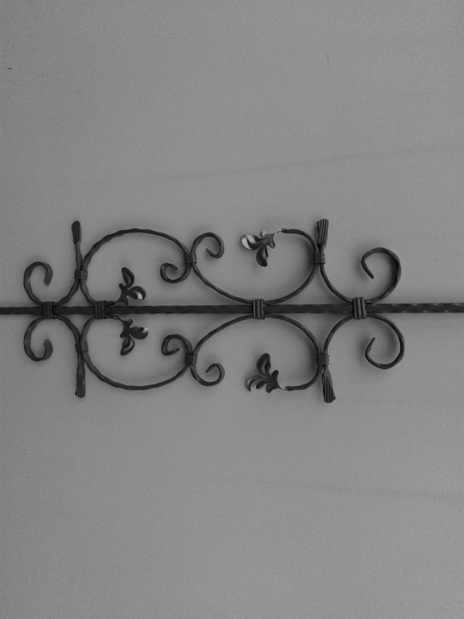 Wand, Metall, Eisen, Objekt, grau, alte, design, Muster