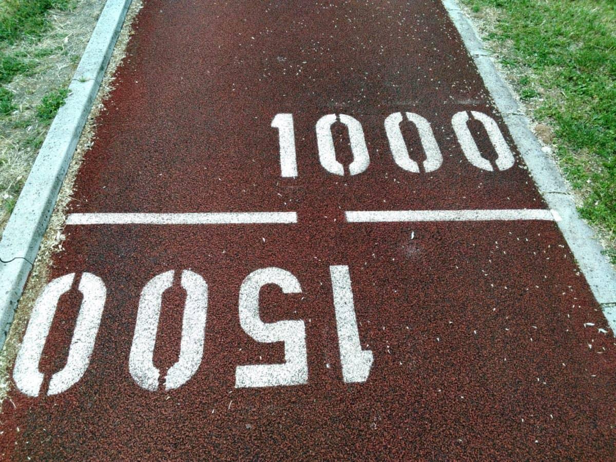 започнете, лека атлетика, сигнал, път, асфалт, земята, спорт