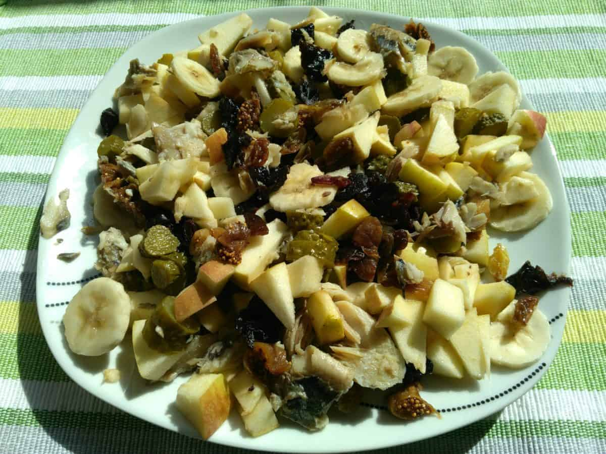 ciruela, higo seco, alimentos, almuerzo, cena, plato, comida, ensaladas, deliciosos en seco