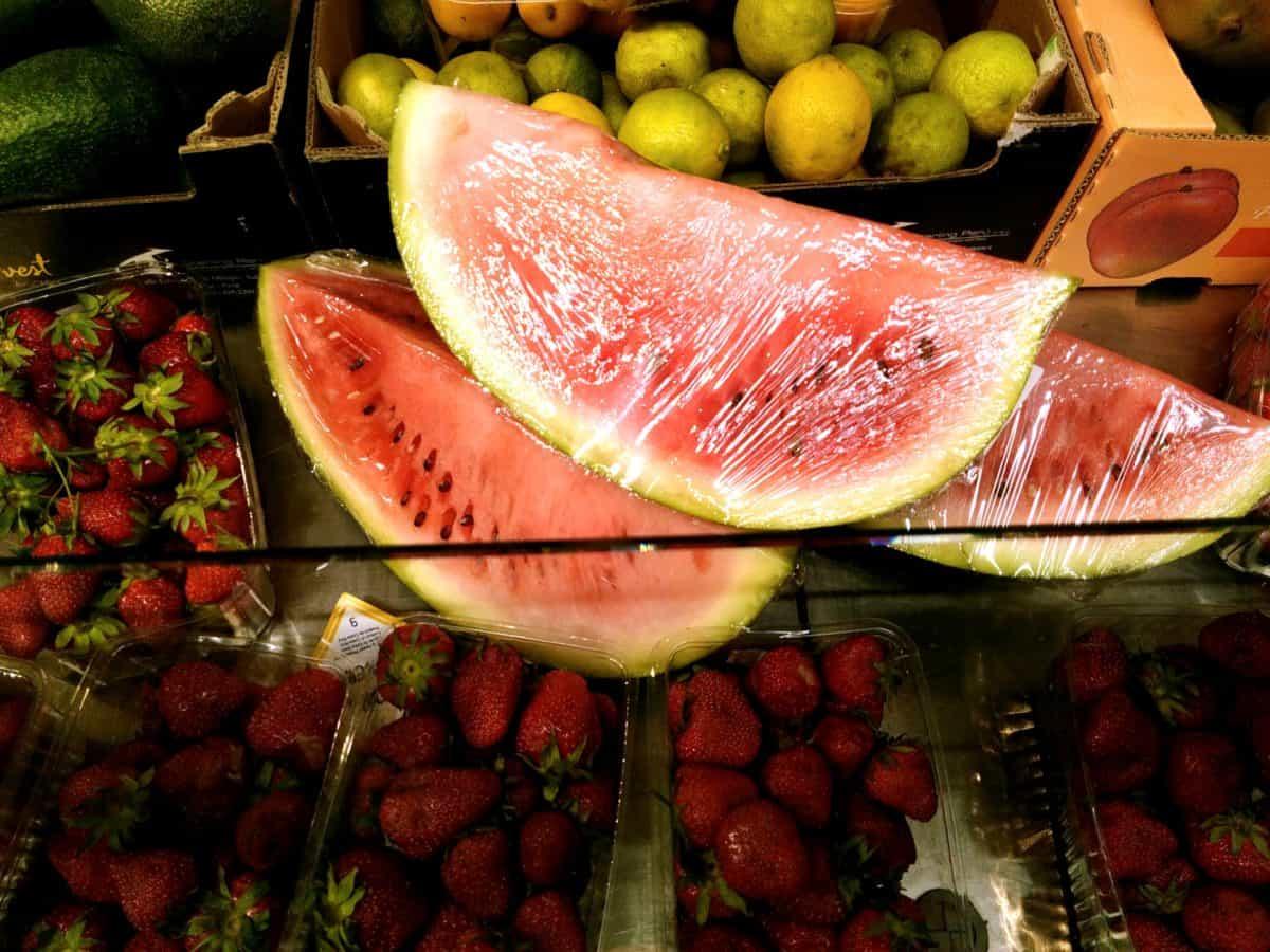 Essen, Wassermelone, Erdbeere, Apfel, Supermarkt, Obst, Melone, Zitrusfrüchte