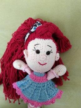 legetøj, uld, håndlavede, dukke, object