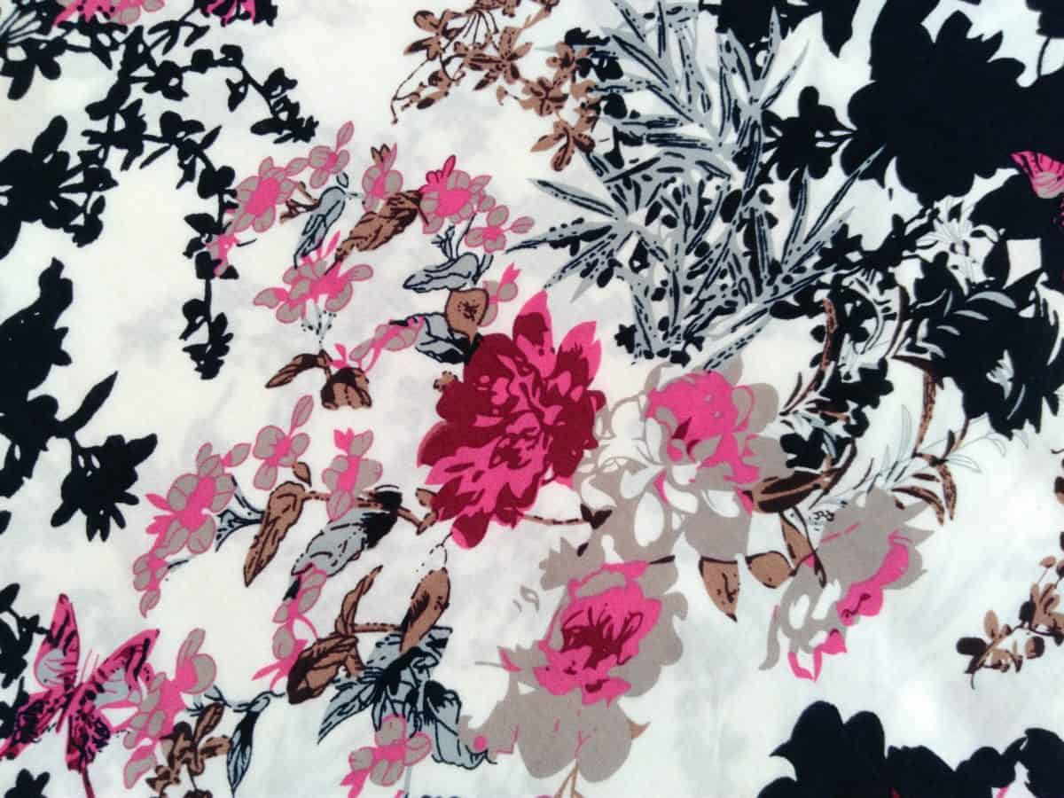 ilustrace, textil, barevný, vzor, barevné, retro