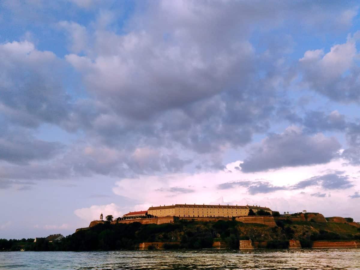 Festung, Wahrzeichen, Novi Sad, Petrovaradin, Strand, Wasser, Landschaft, Himmel