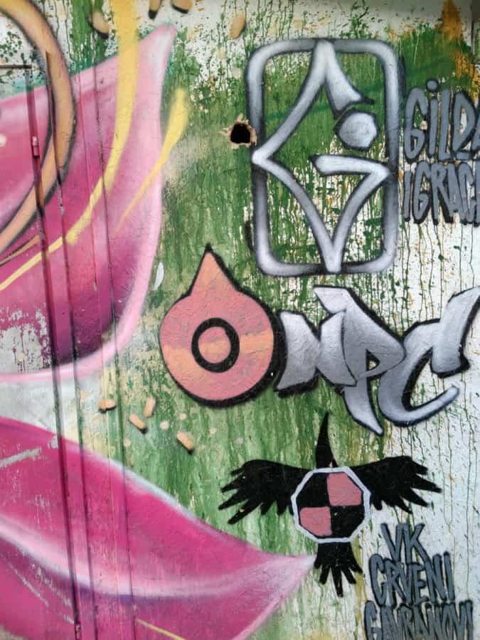 mur, vandalisme, art, graffiti, coloré