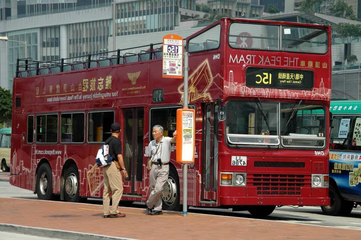 autobús, vehículo, calle, ciudad, camión, transporte, centro