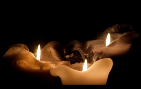 aux chandelles, religion, sombre, cire, bougie, spiritualité