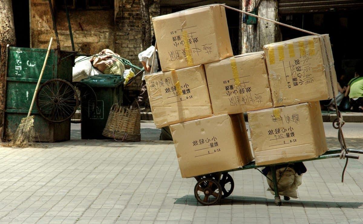mercado, Asia, caja, calle, pavimento, tienda, calle