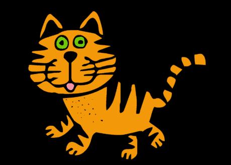 kat, dier, tekening, vorm, kunst, grafische