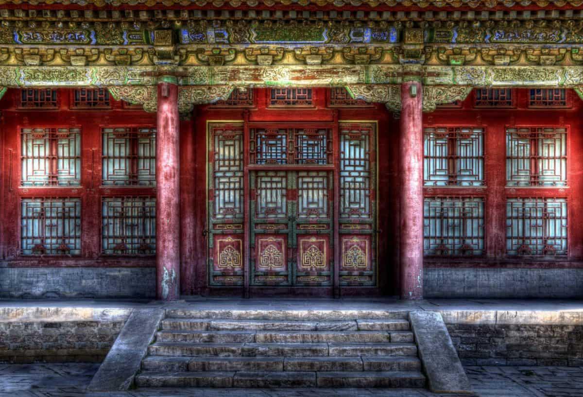 Japan, slott, fasad, arkitektur, exteriör, gammal, hus, Utomhus