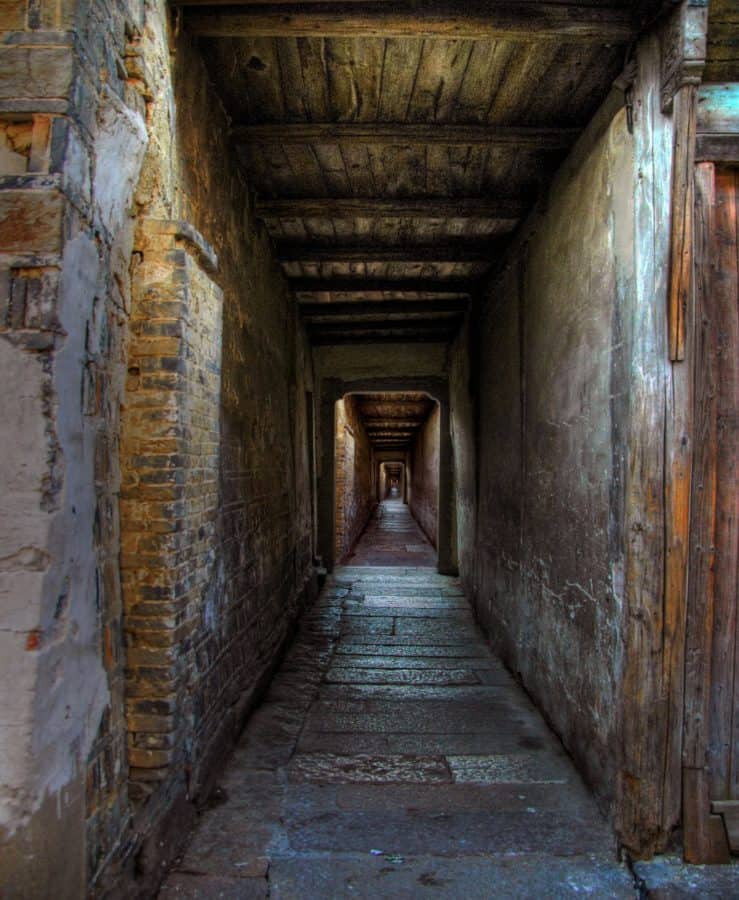 architecture, ombre, passage, ancienne, couloir, tunnel, sombre