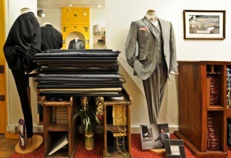 Möbel, Mode, Kunst, Jacke, Hose, Schneider, Tisch, elegant