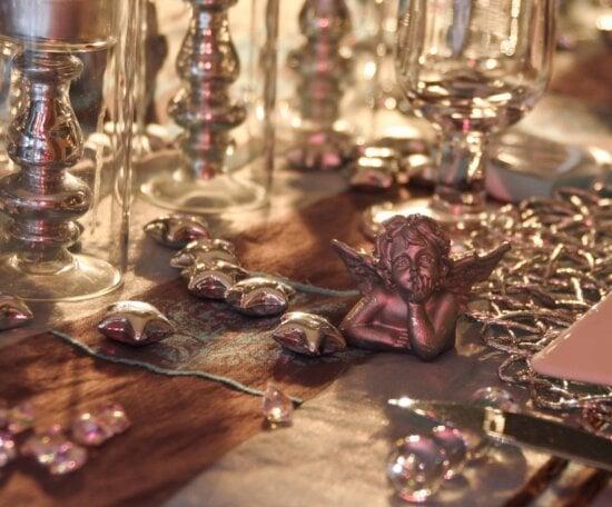 table, figure, angel, luxury, indoor, object