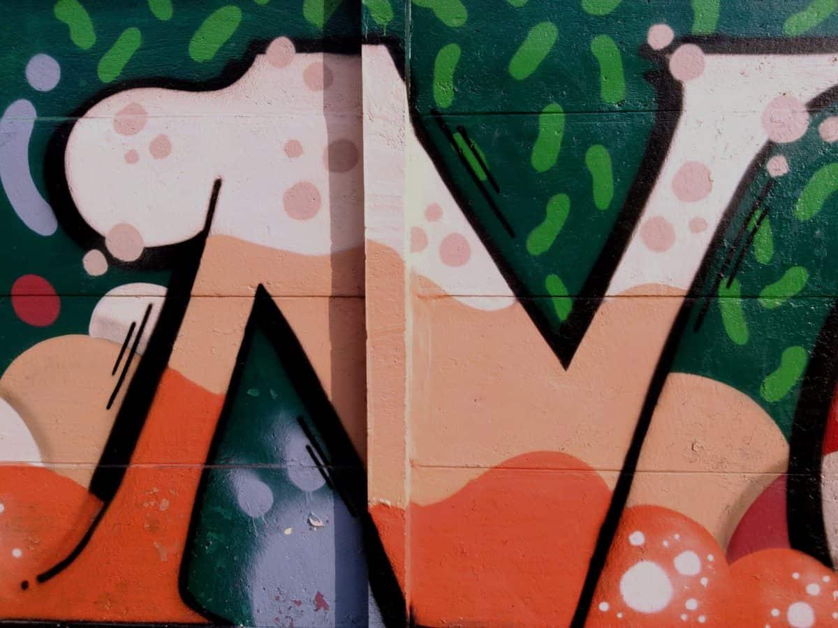 colorido, grafite, design, retrô, arte, ilustração, cor laranja, criatividade, sinal