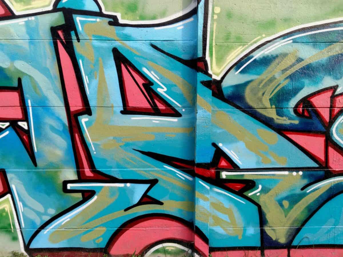 Graffiti, design, art de rue, mural, coloré, vandalisme