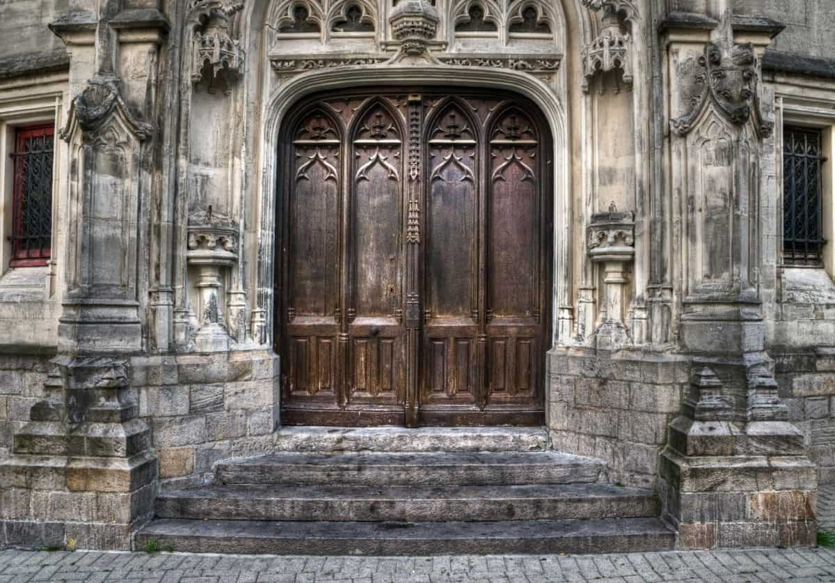 architecture, stone, ancient, facade, old, door, outdoor