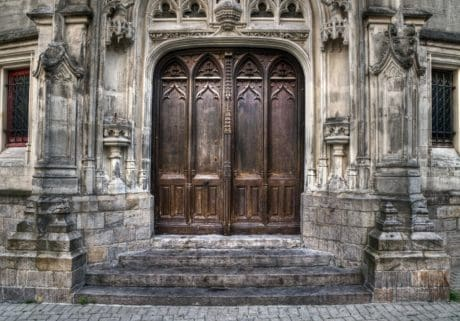 architecture, stone, ancient, facade, old, door, outdoor