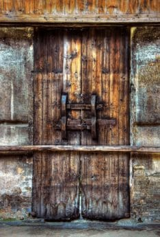 old, wood, door, rust, retro, wall, facade, architecture