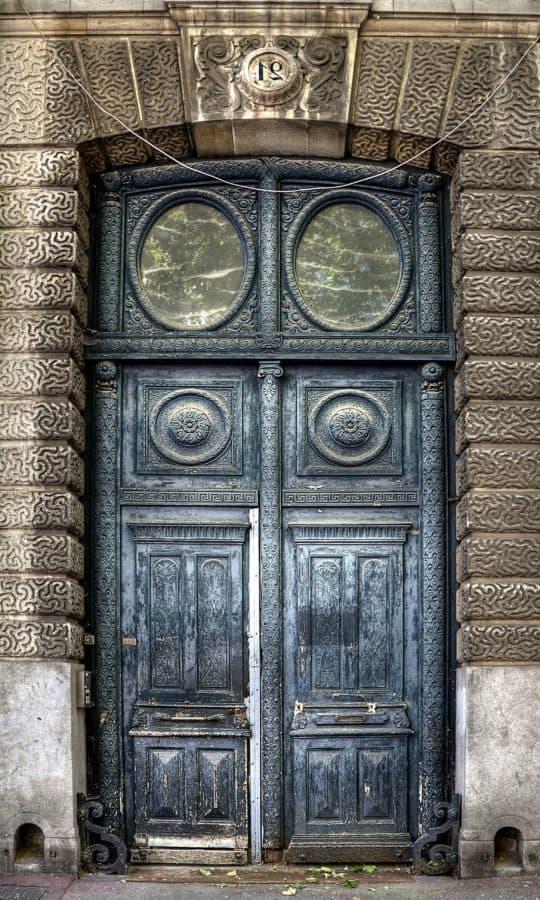 arquitectura, puerta, puerta, madera, entrada, viejo, antiguo