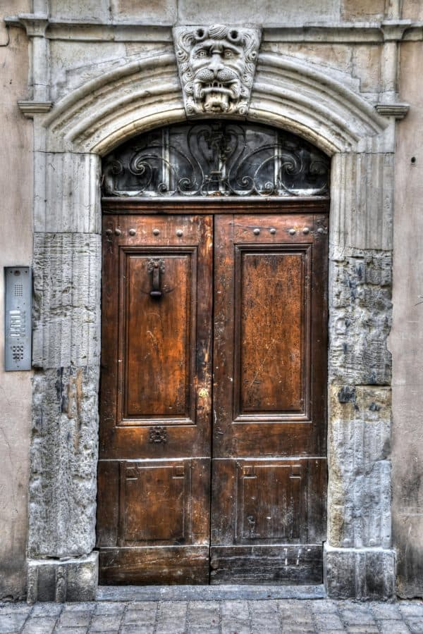 puerta, entrada, casa, arquitectura, puerta, madera, vieja, al aire libre
